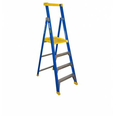150Kg Bailey Fibreglass Platform Ladder - JOB Station