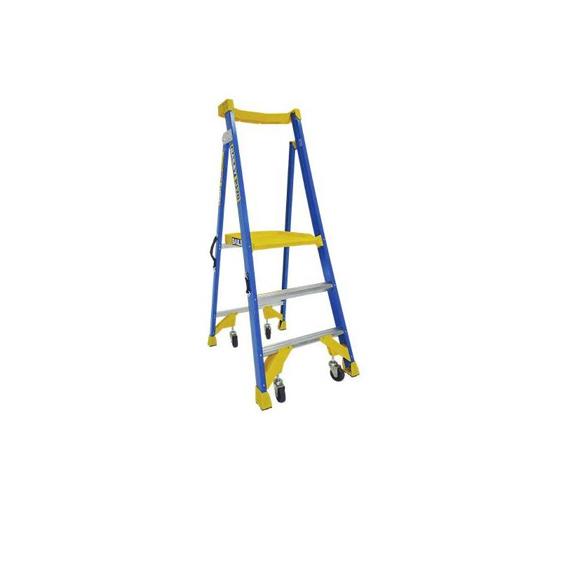 150Kg Bailey Alu Platform Ladder - JOB Station