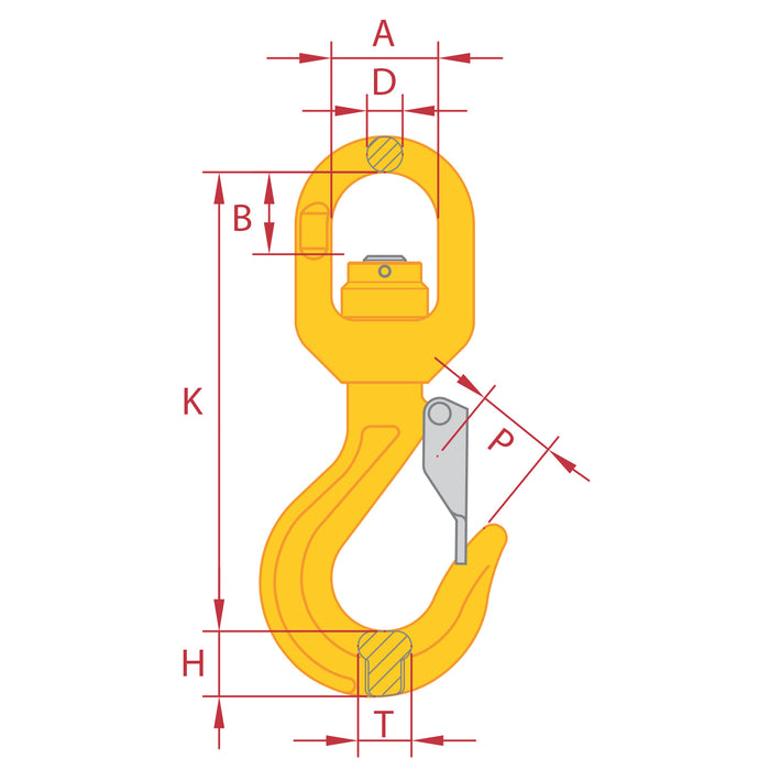 Gr8 Swivel Hook with Latch (Ball Bearing Type)