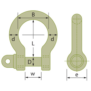 Grade S Screw Pin Bow Shackles