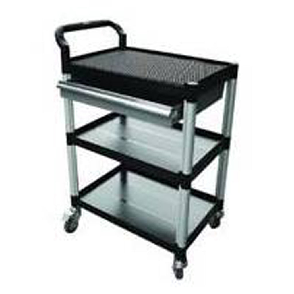 Triple Deck Tool Trolley with Drawer - HS931H