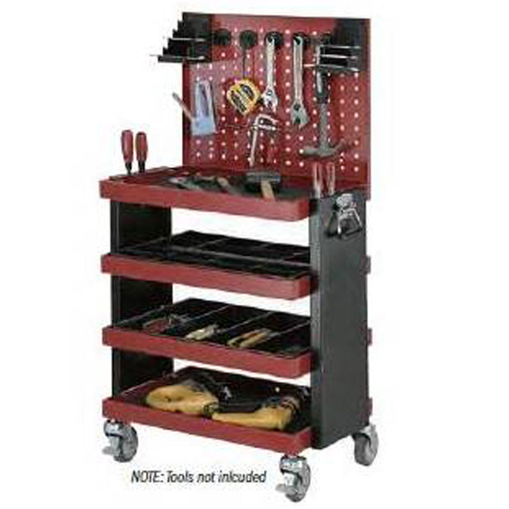 Quad Deck Tool Cart with Tool Board - HS94B