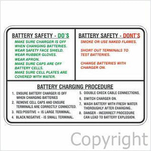 Battery Safety Do's Don'ts & Charging Procedure