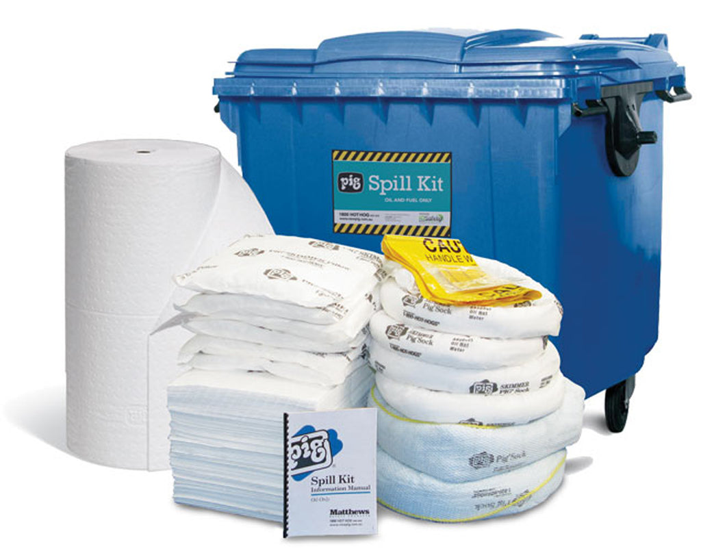 Oil Spill Kit in Extra Large Mobile Container 660 Litre