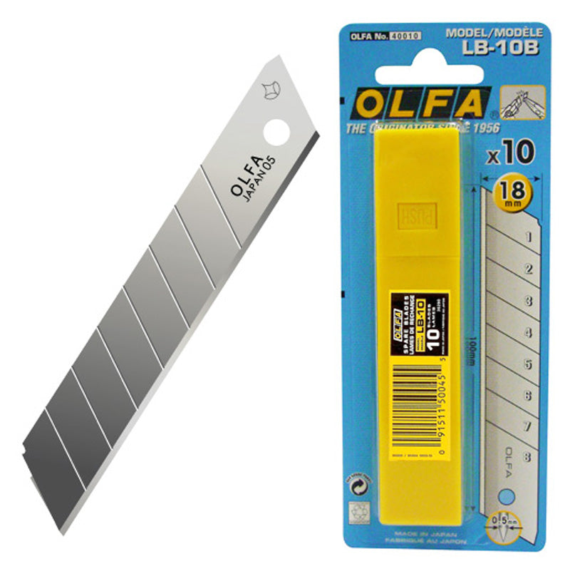 Olfa Large Snap Cutter Blades LB10B - Tube 10