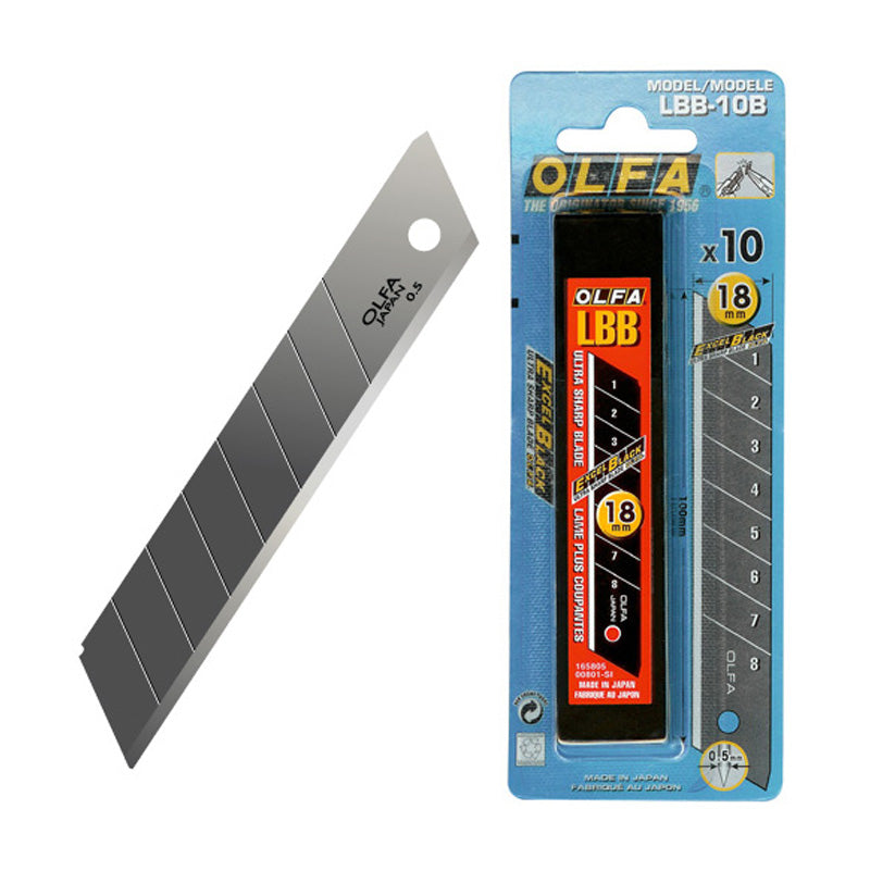 Olfa Large Ultra Sharp Snap Cutter Blades LBB10B - Tube 10