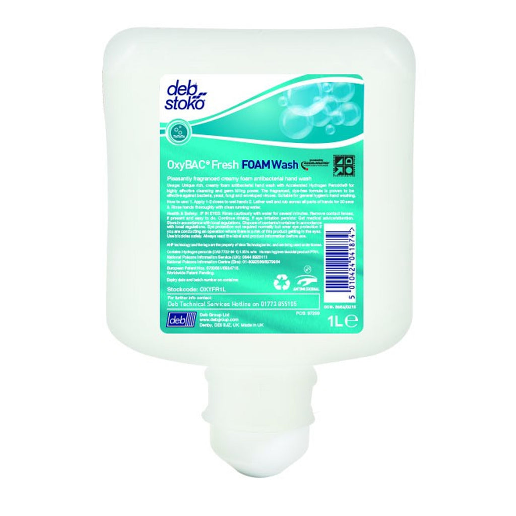 OxyBAC® Fresh Foam Wash 1L Cartridge