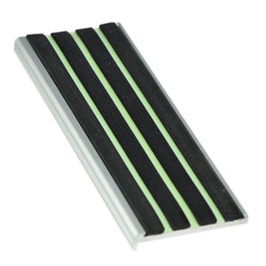 RNR10L aluminium stair nosing with Luminous insert 10mm x 57mm x 3620mm