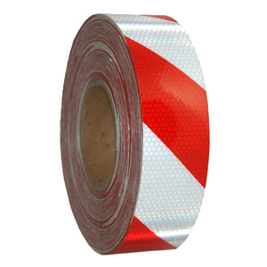 Class 1 Reflective Tape Red/White 50mm x 9m