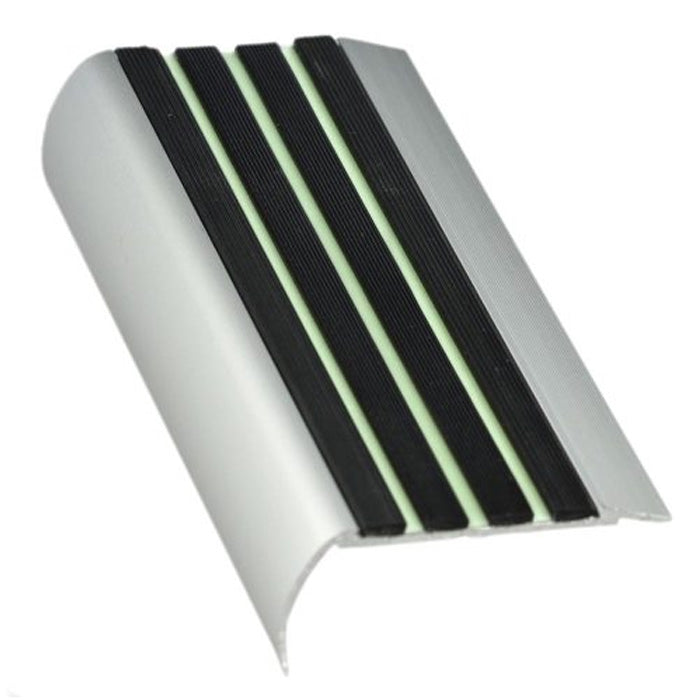 RKZL aluminium stair nosing with Luminous insert 37mm x 75mm x 3620mm