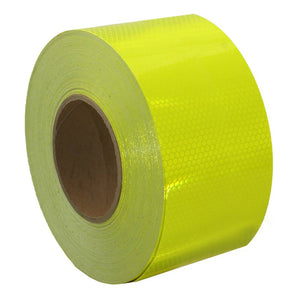 Class 1 Reflective Tape Fluoro Yellow 75mm x 45.7m