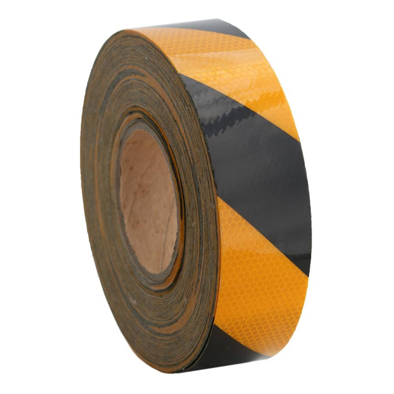 Class 1 Reflective Tape Yellow/Black 75mm x 45.7m