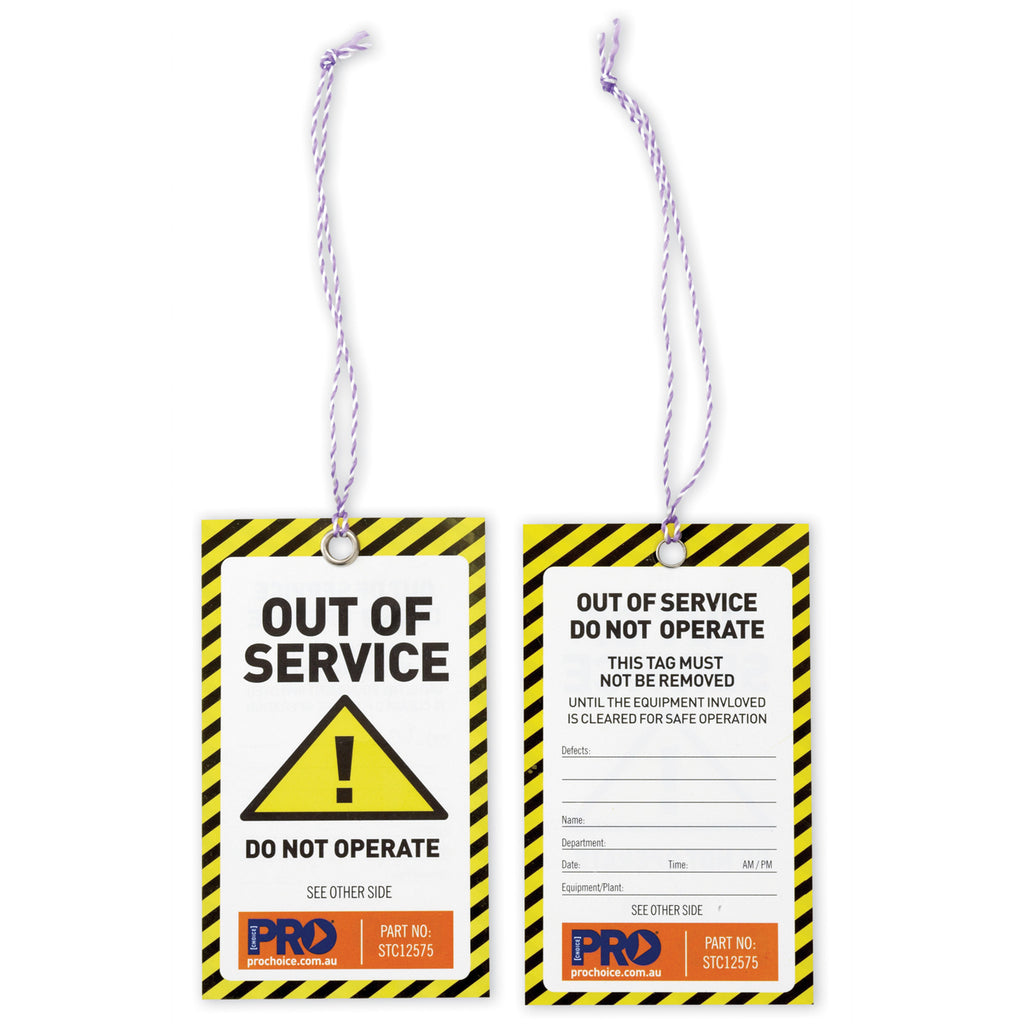 Safety Tags - Yellow Caution