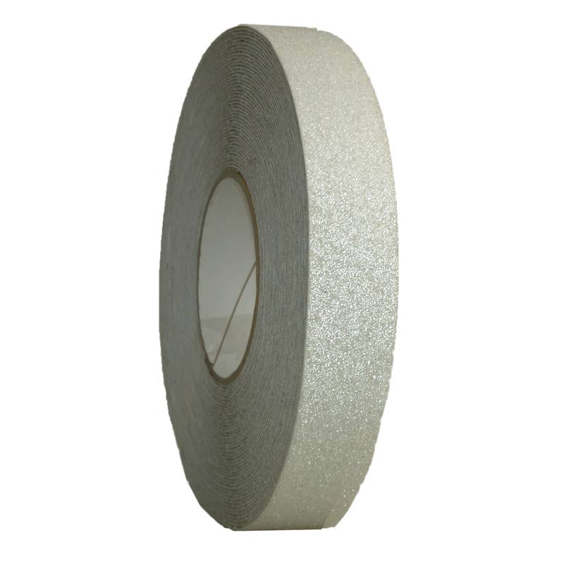 25mm x 18.3m Self-adhesive #36 grade HEAVY DUTY CLEAR Non-slip grit Tape