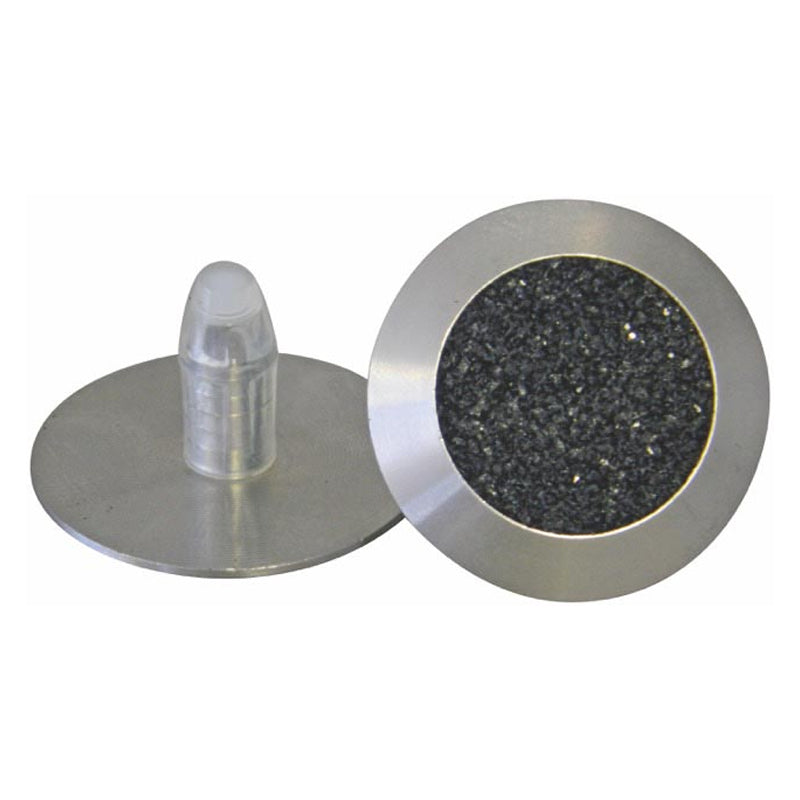 Solid 316 Stainless Steel Tactile. Carborundum Infill c/w 20mm x 8mm self-locking stem