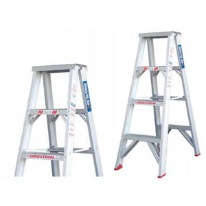 Indalex Double Sided Aluminium Step Ladder 120kg - 180kg