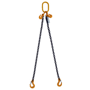 Two Leg Adjustable 1m Clevis Safety Latch Chain Slings