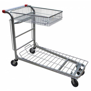 Two Tier Basket Nesting Platform Trolley - HBEW2