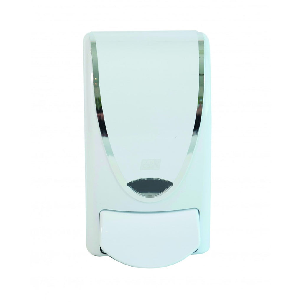 White Chrome Border 1L Dispenser