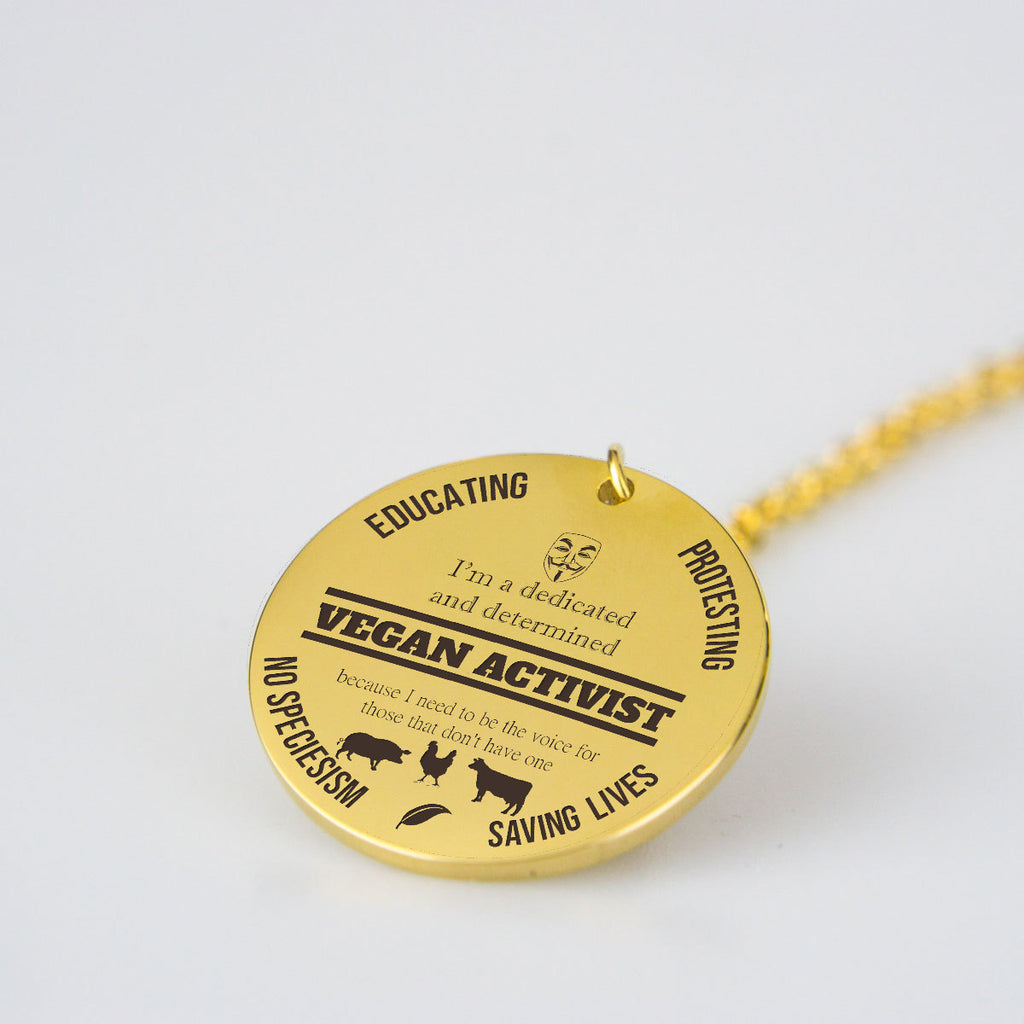 Vegan Activist Round Necklace
