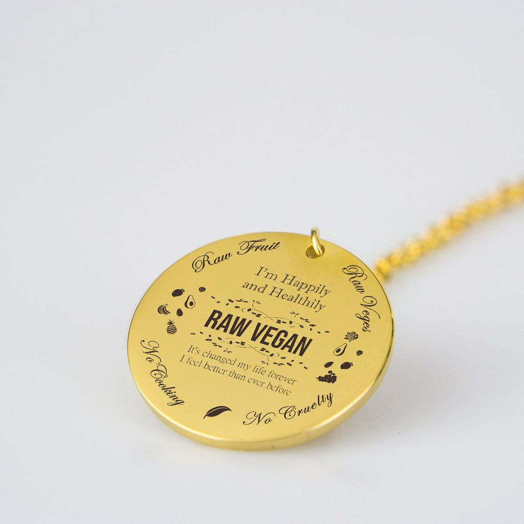 Raw Vegan Round Necklace