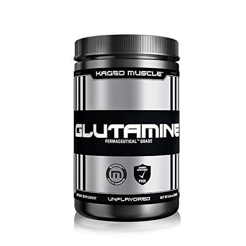 KAGED MUSCLE – L-Glutamine Powder – 300 Gram – 60 Servings Unflavored – Vegan – Support Muscle Recovery + Combat Catabolism + Post Workout Supplement – Banned-Substance Free