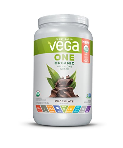 Vega One Organic All-in-One Shake, Plant Based Non Dairy Protein Powder, Chocolate, 1.93 Pounds, 17 Servings