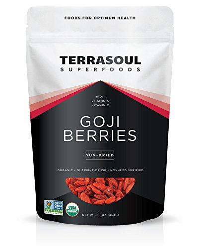 Terrasoul Superfoods Organic Goji Berries, 16 ounces