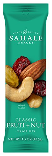 Sahale Snacks Grab & Go Classic Fruit + Nut Trail Mix, 1.5 Ounce (Pack of 18)