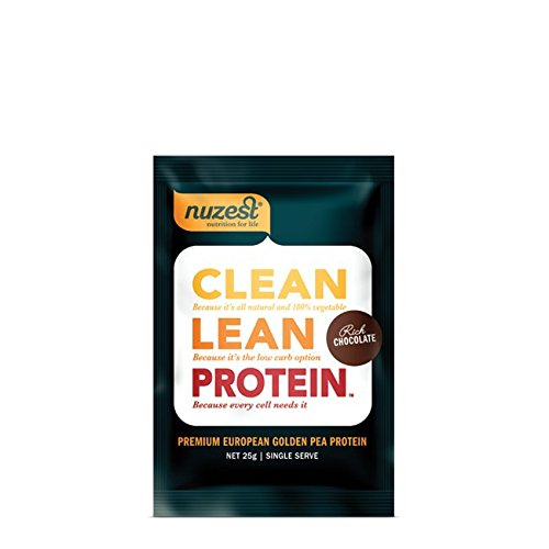 Nuzest Clean Lean Protein - Premium Pea Protein Powder, Plant-based, Vegan, Dairy Free, Gluten Free, GMO Free, Naturally Sweetened, Rich Chocolate, Sample Size