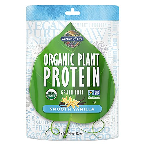 Garden of Life Organic Protein Powder - Vegan Plant-Based Protein Powder, Vanilla, 9.4 oz (265g) Powder