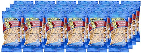 Planters Peanuts, Salted, 1 Ounce Single Serve Bag (Pack of 24)