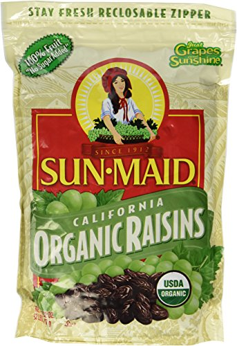 2 LBS Organic Sun Dried California Raisins (1 Resealable Bag) by Sun Maid
