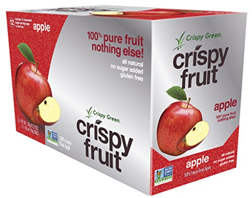Crispy Green Freeze-Dried Fruits, Non-GMO, Gluten Free, No Sugar Added, Apple, 0.36 Ounce (12 Count)