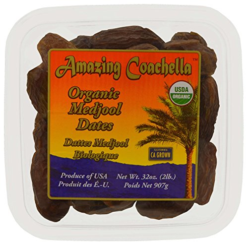 Amazing Coachella Organic Medjool Dates, 2 Pounds