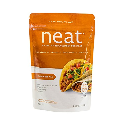 neat - Vegan - Mexican Mix (5.5 oz.) - Non-GMO, Gluten-Free, Soy Free, Meat Substitute Mix