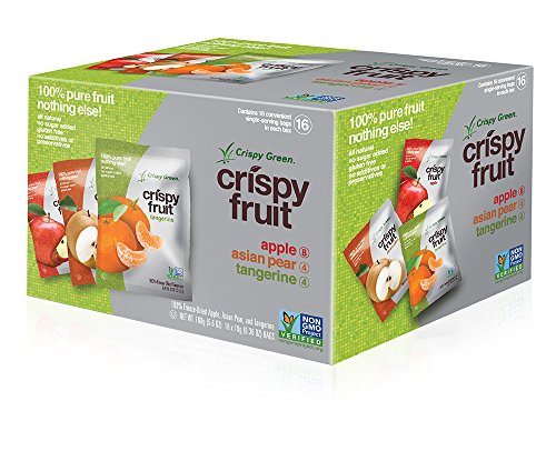 Crispy Green Freeze-Dried Fruits, Non-GMO, Gluten Free, No Sugar Added, Fruit Variety Pack, 0.36 Ounce (16 Count)