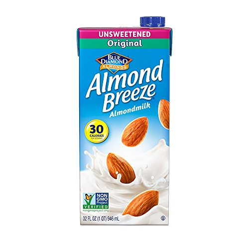 Almond Breeze Dairy Free Almondmilk, Unsweetened Original, 32 Ounce (Pack of 12)