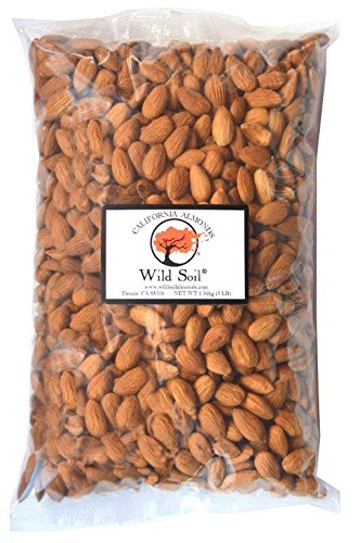 Wild Soil Almonds - Distinct and Superior to Organic, Steam Pasteurized, Probiotic, Raw 3LB Bag
