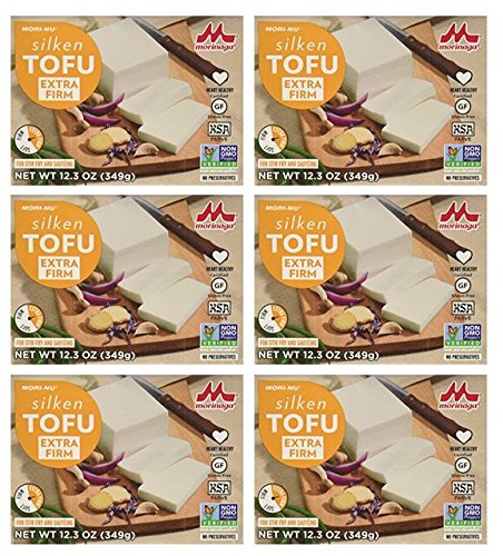 Mori-Nu Tofu, Silken Style, Extra Firm, 12.3-Ounce Boxes (Pack of 6)