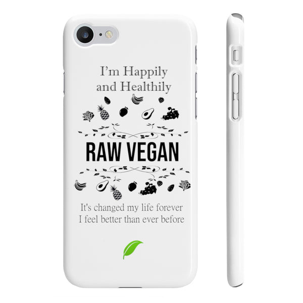 Raw Vegan Wpaps Slim Phone Cases