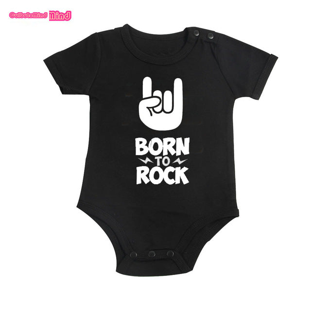 Born to rock - baby romper - Romper - Bentyz