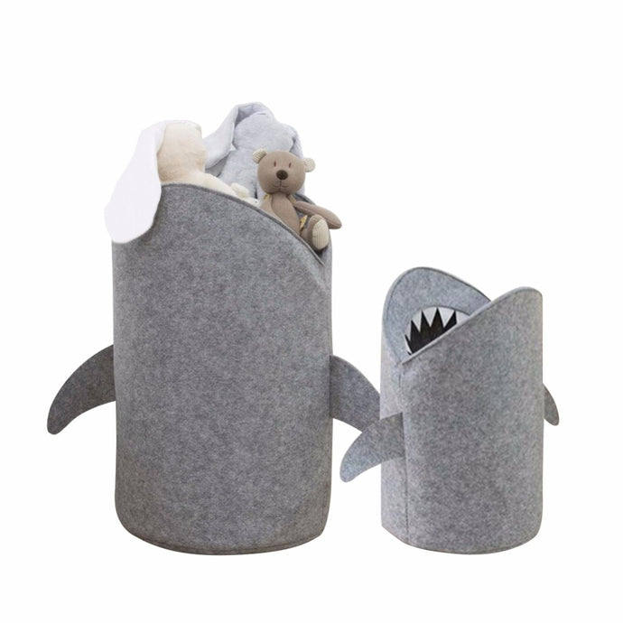 Cute shark shaped storage basket - Toys - Bentyz