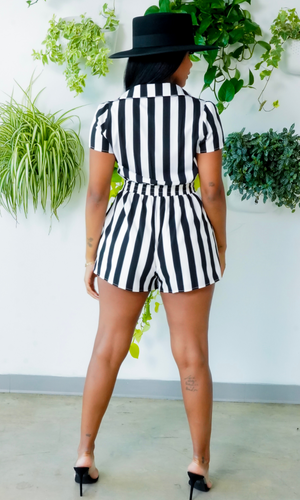 Stylin'  Romper - Black and white