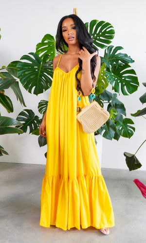 Fabulous Comfort | Maxi Dress - Yellow