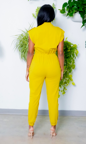 At Ease Jumpsuit- Chartreuse Preorder ships mid - end of May