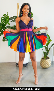 Color Queen| Colorful Swing Dress FINAL SALE