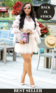 Slay The Day l Blush Ruffle Dress - Cutely Covered