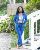 Boss Babe | Blue Suit Set - Cutely Covered