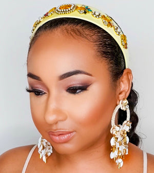 Too Cute Sis | Jewel Bling Headband - Yellow